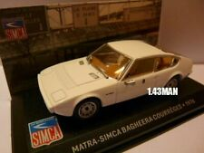 SIM3F altaya IXO 1/43 SIMCA : Bagheera courrèges 1976 blanche