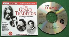 The Grand Tradition Great Opera Voices Caruso Lanza Caballe Domingo + BBC CD