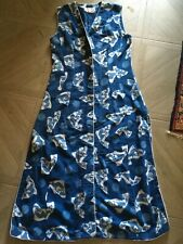 FABULOUS ANOKHI DRESS, BUTTON FRONT, SPLIT SIDES, SLEEVELESS, INDIAN BATIK PRINT