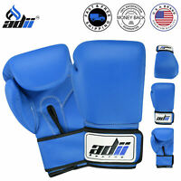 ADii™ Leather Boxing Gloves Sparring Gloves Punching Gym Training MMA Gloves USA
