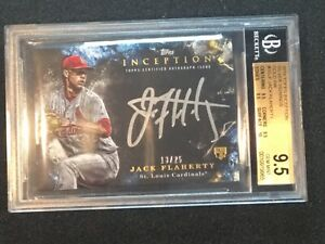 Jack Flaherty 2018 Topps Inception Silver Signings Gold Ink BGS 9.5/10 Gem Mint