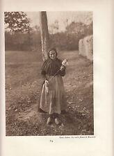 "PHOTO original ""visage de la france"" environ 1920 17 cm x 23 ROSCANVEL fileuse"