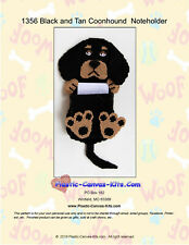 Black and Tan Coonhound Dog Note Holder-Plastic Canvas Pattern or Kit