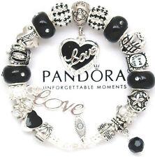 "Pandora Bracelet Silver Black ""Love Story"" Valentine European Charms Pandora Box"