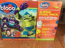 Bloco Foam building Sets Robots, Monster & Ogres STEM TOY Over 500 Pieces NEW