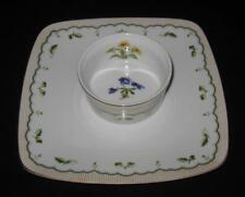 "Georges Briard VICTORIAN GARDEN, Various Flowers, Chip & Dip Set 9 1/2"" Square"