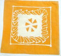 Housse de coussin indien Batik Coton Fait Main Taie de coussin Jaune Inde Boho A