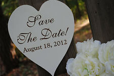 Engagement Sign: Save The Date, Heart Shaped, Handmade & Laser Etched