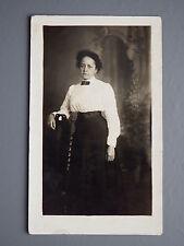 R&L Postcard: Edwardian Fashion Clothes, Portrait of Lady, Stickybacks