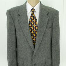 44 L (43 L) Farah Gray Wool Flecked Tweed 2Bt Mens Jacket Sport Coat Blazer Mint