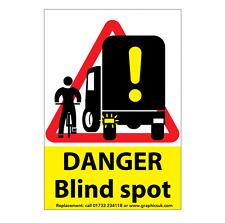 Tache aveugle Avertissement Autocollant-HGV/Van/Camion Wagon/danger de Sécurité Sticker