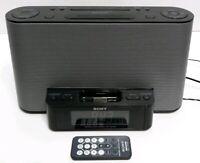 Sony (ICF-CS10iP) FM / AM Alarm Clock Radio Speaker Dock For iPod / iPhone Used