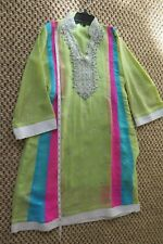 Girls kameez and pant suit, party wear, multi-color size 8-10 years