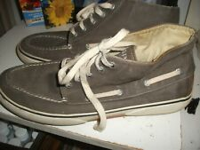 Sperry Top-sider Canvas High Top Shoes in Gray - Size Men's 10M