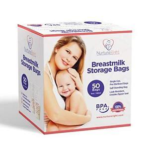 Lot of 2!  50 Breastmilk Storage Bags - 6oz/180ml Pre-Sterilized & BPA-FREE Bags