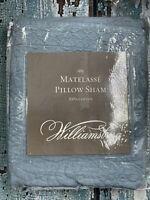 """Williamsburg Matelasse Euro Pillow Sham 26""""x 26"""" Abby Blue"""