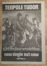 Tenpole Tudor Let the four  1982 press advert Full page 27 x 38 cm mini poster