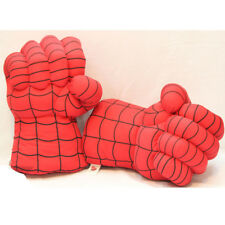 A Pair Spider man Boxing Gloves Plush Fist Hand Gloves Kids Play Toy Gift  New