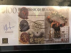 Game Of Thrones 100 Gold Dragons Note Fun Novelty Iron Bank Of Bra Avos