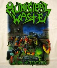MUNICIPAL WASTE cd cvr THE ART OF PARTYING Official White SHIRT MED new