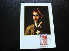 spain - card 1st day 22/2/1977 (2eme choice Card yellowed) (cy24) spain