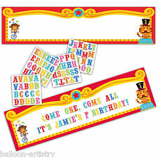 5ft Fisher Price Circus Happy 1st Birthday Party Personalisable Giant Banner