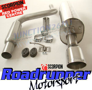 """Scorpion Fiesta ST 150 MK6 Cat Back Exhaust System Stainless SFD068 4"""" Tail"""