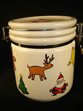 cookie jar Christmas candy canes table holiday dry foods cannister gift holiday