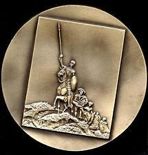Writer/Cervantes/ D. Quichote/Sancho PanÇA Specimen Medal 198 mm /Exonumia/ Rare