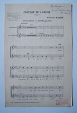 § partition ancienne CANTIQUE RACINE sopranos contraltos