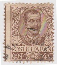(IT49) 1901 Italy 40c Brown King Victor ow68
