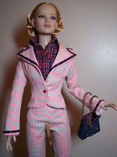 """Tonner 22"""" American Model Sportswear-Jacket-Pedal Pusher -Blouse- Purse Outfit"""