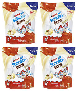 4x Kinder Schokobons weiß SET BOX Schoko-Bons white Schokolade 200g Ferrero
