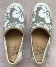 Dansko Vegan Clog Shoes, Womens Size 7.5 - 8, 38, Sage Floral Motiff