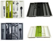 Expandable 9 Compartment Adjustable Plastic Cutlery Holder Tray Drawer Organiser