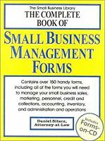 Complete Book of Small Business Management Forms Hybrid Daniel Sitarz