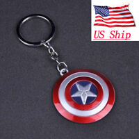 Marvel Avengers Captain America Shield Alloy Key Chains Keychain Keyring USA