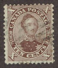 Canada Stamps #17 - 1859 Red Lilac HRN Prince Albert, light used with good perf