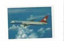 Balair airlines Switzerland issued boeing 757-200 (blue letter) cont/l postcard