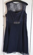 Kaliko size 14 navy dress. Christmas Party, Wedding, Prom. BNWT rrp £149