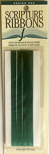 Bible and Scripture Ribbons - Provides Bookmark/Quick Reference Tool - Green