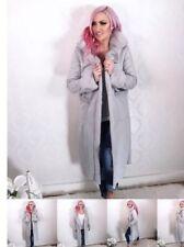 Billionaire Coat Plush Faux Fur Grey Size 16, Jodie Marsh