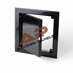 Metal BLACK Access Panel Inspection Panel Loft Hatch Ceiling Door Wall ALL SIZES