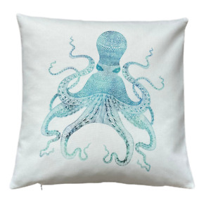 *SALE* Marine Octopus - 40cm Ivory cushion cover coastal nautical