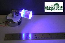 12V LED SPOTLIGHT/READING LIGHT- SWIVEL ACTION, BLUE & WHITE LIGHT BOAT YACHT