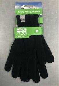 MINUS 33 MERINO Wool Glove Liner Black Size M NEW