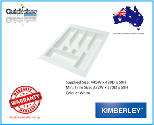 Kimberley Large Kitchen Drawer Cutlery Tray Insert 445mm x 489mm Australian Made