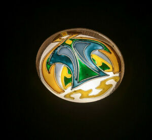 A&O Wall or ceiling lamp (sconce) with Art Nouveau stained glass, Modern