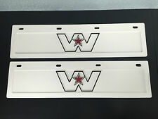"2 x New White Genuine Western Star Short Truck Bumper Bar Mudflaps 24"" x 6"""