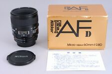 [Exc+++++ in BOX] Nikon Nikkor AF 60mm f2.8 D Micro Close Up Lens from Japan #51